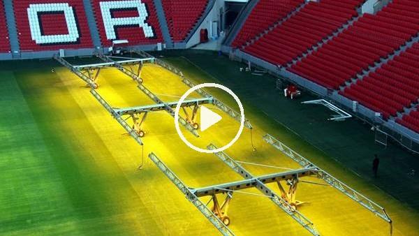 Samsunspor Stadı'nın çimleri yenileniyor