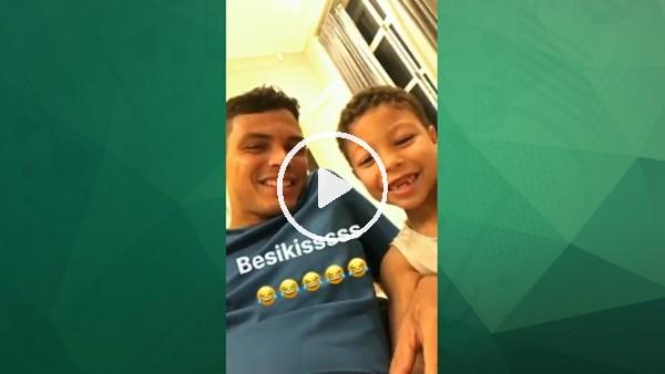 PSG'nin yıldızı Thiago Silva'nın oğlundan Beşiktaş!