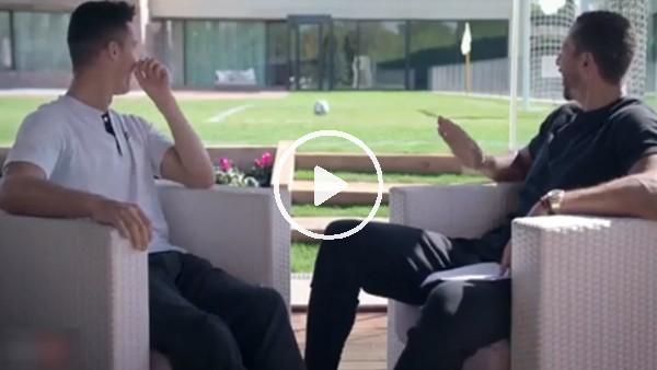 Ronaldo'nun oğlu Cristiano JR, Ferdinand'a şov yaptı!