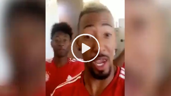 Boateng ve Alaba'dan canlı performans