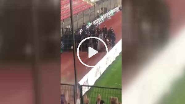 Fenerbahçe taraftarı ve Çevik Kuvvet!