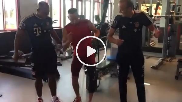 Ribery'den antrenman sonrası dans!