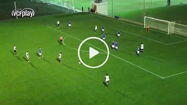 ' Galatasaray'ın ilgilendiği genç Ferhat Çoğalan'dan müthiş frikik golü