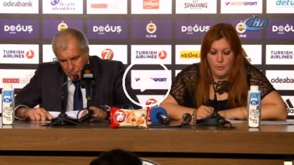 """Zeljko Obradovic: """"Hakem kararlarından dolayı bir maç kaybettik"""""""
