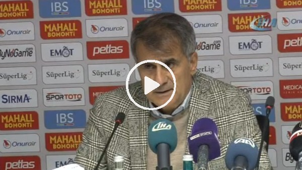 Şenol Güneş'in Göztepe maçı sonrası açıklamaları