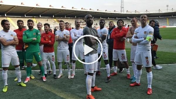 Kayserisporlu futbolcuların galibiyet sevinci