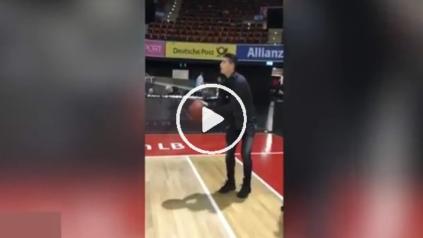 James Rodriguez'in basketbol keyfi!