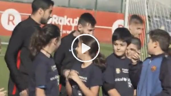 Çocuklar Lionel Messi'yi görünce!