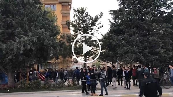 Çorum Belediyespor-Osmaniyespor maçı sonrası arbede çıktı