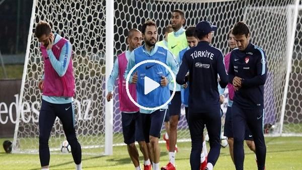 A Milli Takım, Arnavutluk maçı hazırlıklarını sürdürdü