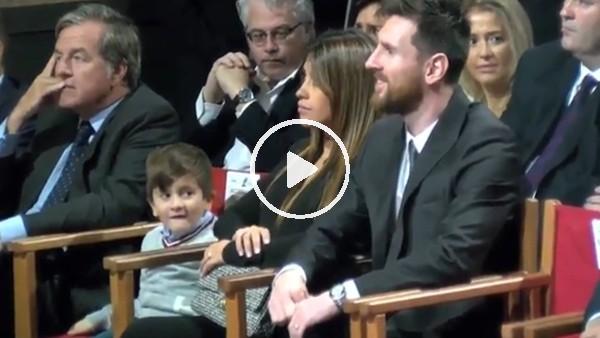 Messi'nin oğlunun Luis Suarez sevgisi