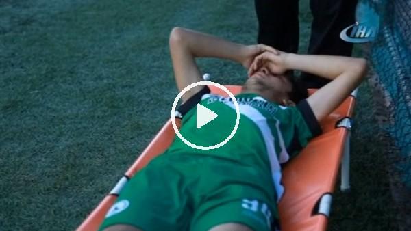 Amatör maçta ambulans krizi