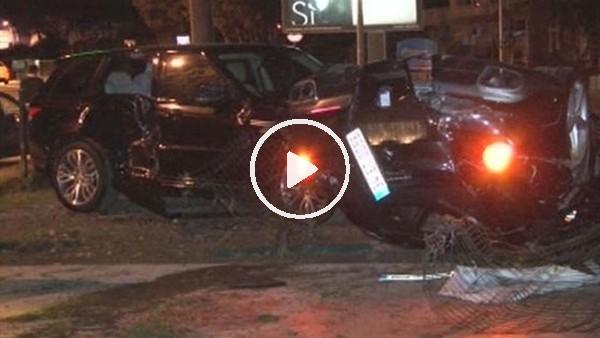 Burak Yılmaz'ın içinde bulunduğu araç takla attı