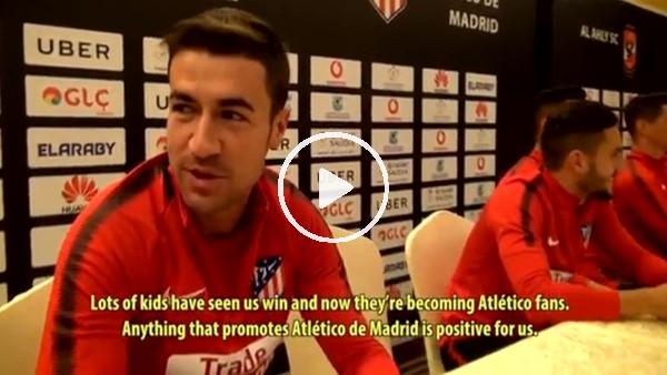Atletico Madrid'in yıldızları hayranlarıyla buluştu