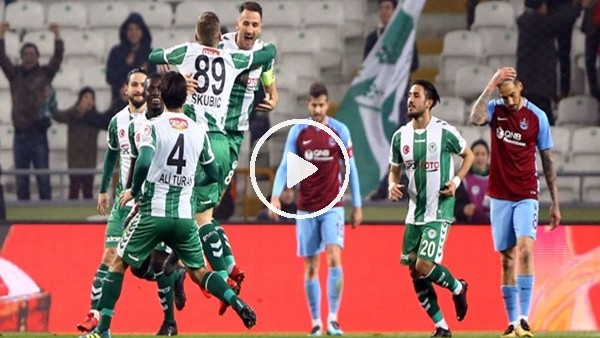 Atiker Konyaspor 1-0 Trabzonspor (Maç özeti ve goleri)