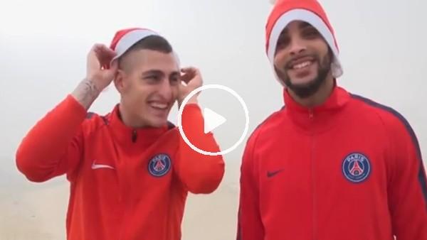 PSG'li yıldızlardan Christmas temalı çöl videosu