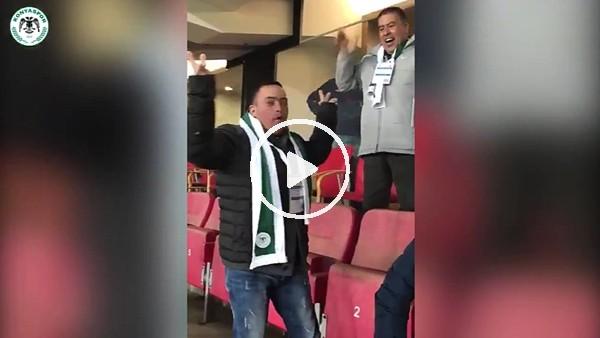 Filistinli Muhammed Al Taweel, Ömer Ali Şahiner'in golüne böyle sevindi