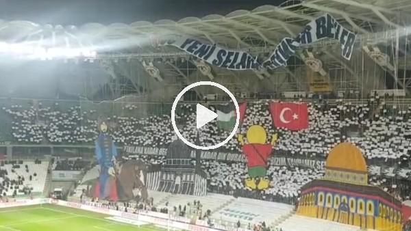 Konyaspor taraftarının Fenerbahçe maçı için yaptıkları koreografi
