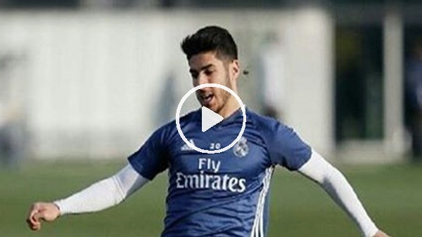 Asensio'dan antrenmanda enfes gol
