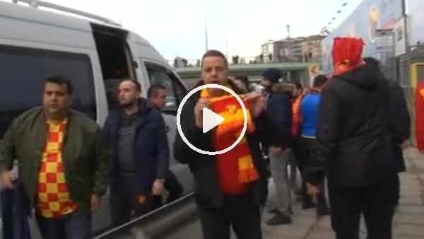 Göztepe taraftarları stada gelmeye başladı