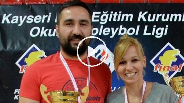 Voleybol antrenörü evli çift, salonda birbirlerine rakip oldu
