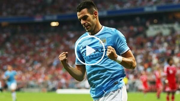 Manchester City, Negredo'nun golünü paylaştı