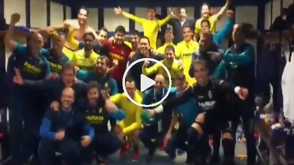 Real Madrid zaferi sonrası Villarreal soyunma odası!