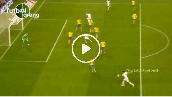 Olivier Giroud'un İsveç'e attığı gol