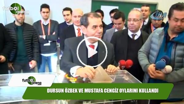 Dursun Özbek ve Mustafa Cengiz oylarını kullandı