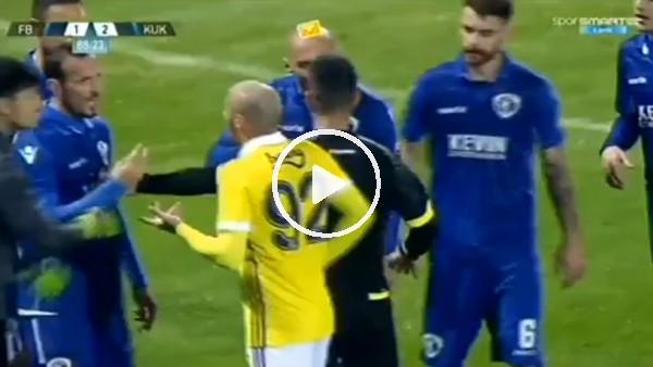 Fenerbahçe - Kukesi maçında gerginlik!