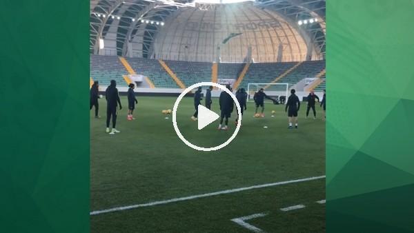 Akhisarspor yeni stadında ilk idmanını yaptı