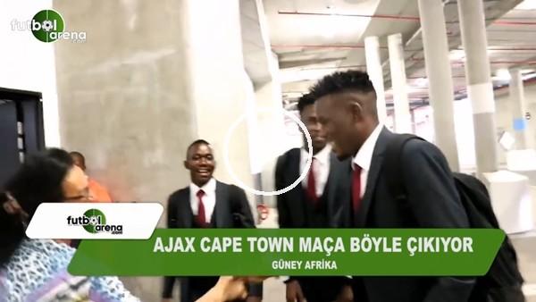 Ajax Cape Town takımı maçlara böyle çıkıyor
