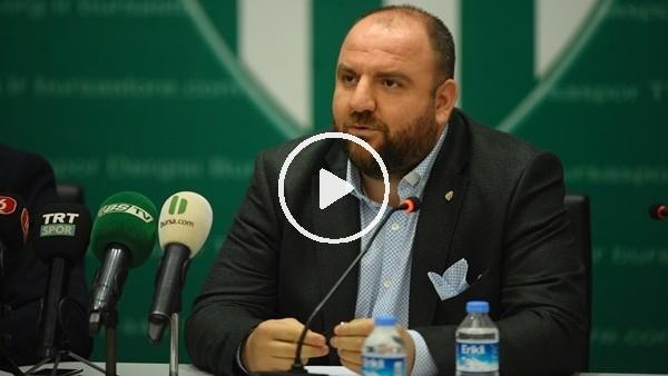 """Bursaspor Futbol Şube Sorumlusu Hasan Parlakay: """"Sow fedakarlık yaptı"""""""