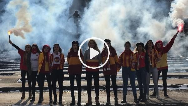 Kayserispor'un Bayan taraftar grubu Galatasaray maçına hazır