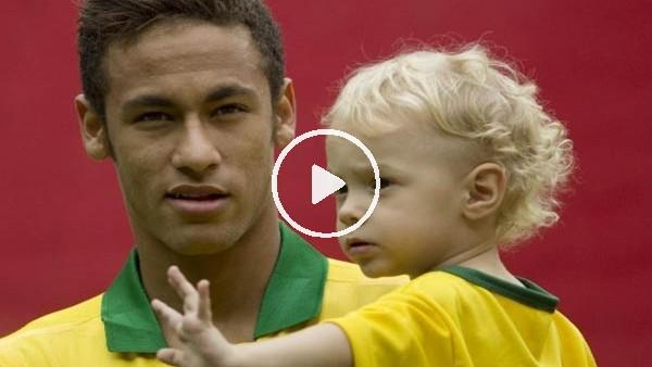Neymar, oğlu ile futbol oynuyor!