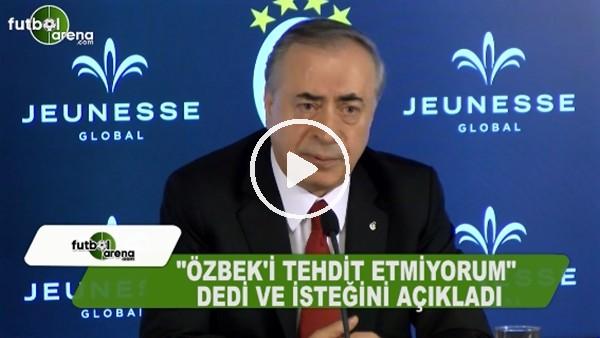 """Mustafa Cengiz """"Dursun Özbek'i tehdit etmiyorumm"""" dedi istediğini açıkladı"""