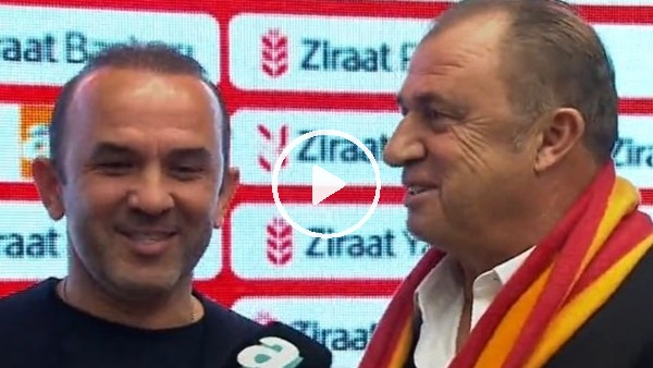 Fatih Terim ve Mehmet Özdilek canlı yayında birlikte röportaj verdiler