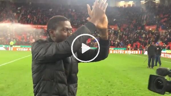 Ndiaye, Stoke City taraftarlarıyla buluştu