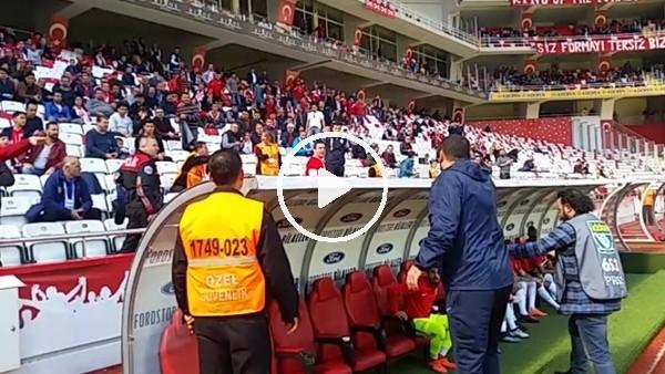Antalyaspor taraftarı ile Sumudica arasında gerginlik