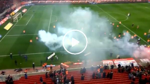 'Olympiakos - AEK maçında olaylar çıktı