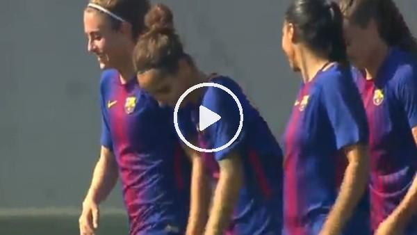 Barcelona'lı kadın futbolcudan enfes gol