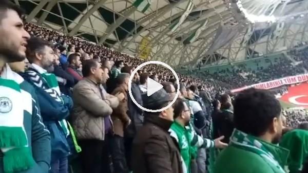 Skubic'in golü öncesi Konyaspor taraftarının heyecanı
