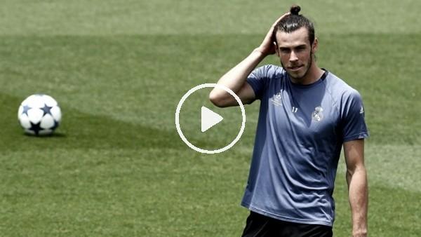 Gareth Bale antrenmanda klasını konuşturdu