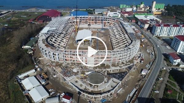 Ordu stadının çelik montajına başlandı