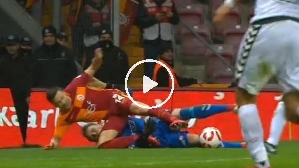 Galatasaraylıların penaltı beklediği pozisyon