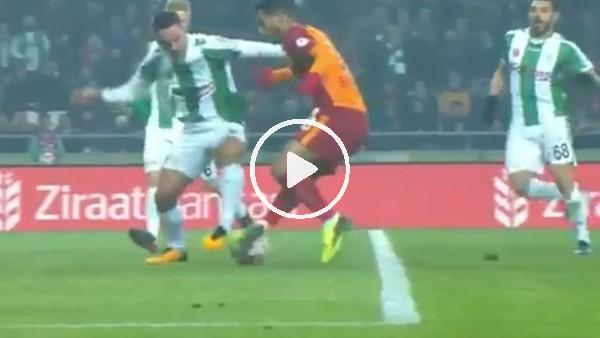 Galatasaraylı taraftar Belhanda'nın pozisyonunda penaltı bekledi