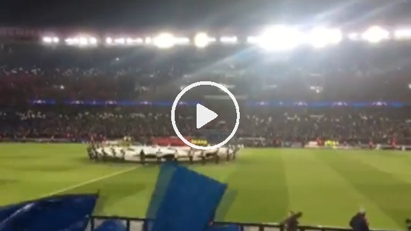 PSG - Real maçına damga vuran koreografi!