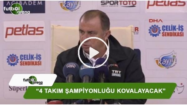 """Fatih Terim: """"4 takım şampiyonluğu kovalayacak"""""""
