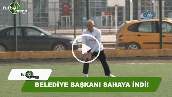 Sivas'ın Kangal İlçesi Belediye Başkanı Mehmet Öztürk sahaya indi