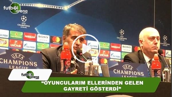 Şenol Güneş'in açıklamarı Bayern Münih maçı sonrası açıklamaları